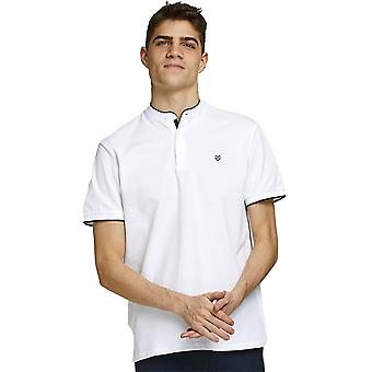 Jack & Jones Mens Mandarin Collar Regualr Fit Polo Shirt