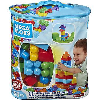 Mega Bloks 60 Piece Big Building Bag Blue