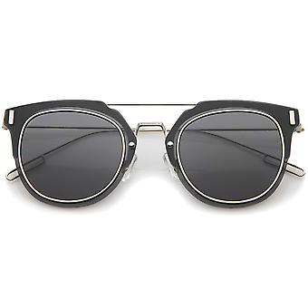 最小限の超細いワイヤー フレーム内側縁平面レンズ Pantos サングラス 58 mm