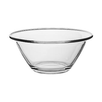 Bormioli Rocco Mr Chef Glass Nesting Mixing Bowl - Heavy Duty, Dishwasher and Microwave Safe - 1.5L
