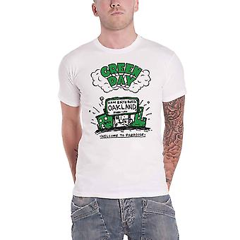 Green Day T Shirt Welcome To Paradise Band Logo new Official Mens White