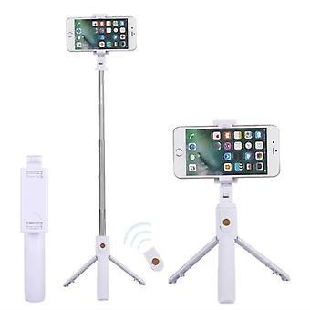 スタッフ認定®セルフスティック三脚Bluetooth - ワイヤレススマートフォンVlog三脚と三脚セルフスティックホワイト