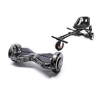 Paket Smart Balans™ Hoverboard 8 Tum, Transformers Skullhead + Hoverseat Med Suspensioner, Motor 700 Wat, Bluetooth, Led