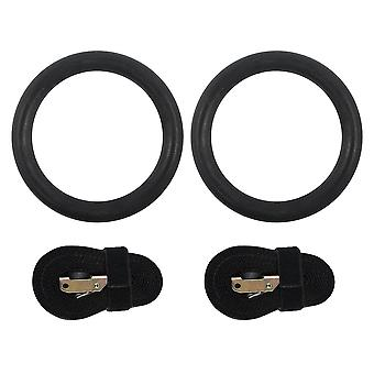 2pc/4pc Birch Wooden Exercise Fitness Gymnastic Rings