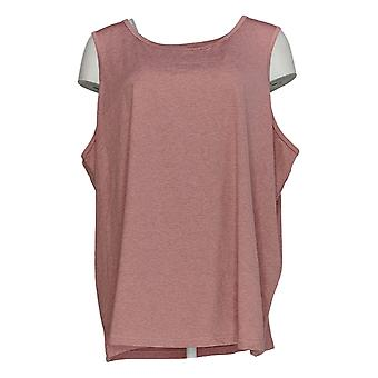 Anybody Women's Plus Top Move Active Stretch Jersey Tank Pink A349819