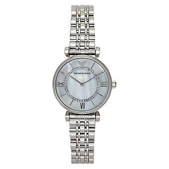 Armani Ar1908 sølv rustfritt stål ladies watch