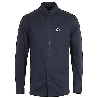 Fred Perry Corduroy Navy Shirt