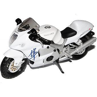 Maisto Suzuki GSX 1300R Valkoinen Moottoripyörä 1:18