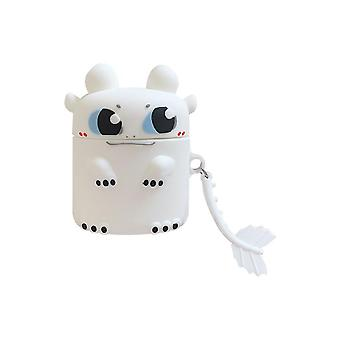 Case Protective shockproof silicone case for Apple AirPods White Dragon