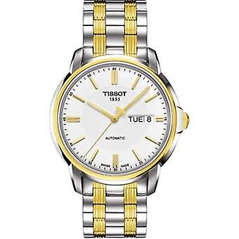 Tissot T065.430.22.031.00 Automatic White Dial Two-Tone Men's Watch