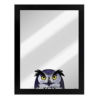 Inquisitive Creatures Owl Mirrored Plaque