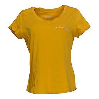 Rachel Hollis Ltd Women's Top Perfect Tee Yellow A354045