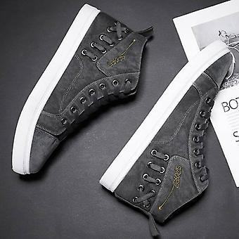 الرجال أحذية Vulcanized عارضة، أحذية رياضية عالية الذكور لفصل الربيع / الخريف
