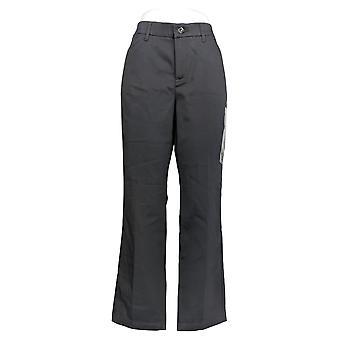 Lee Women's Pants Flex Motion Straight-Leg Iron Gray