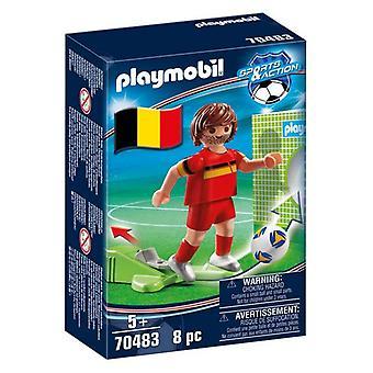 Figuur Football Player Belgium Playmobil 70483 (8 pc's)