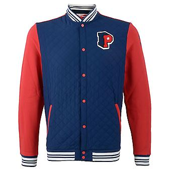 Puma Collegiate Baseball Button Jumper Takki Junior Kids Sininen Punainen 821963 01 R6K