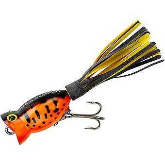 Arbogast Hula Popper 3/8 oz Fishing Lure - Yellow Coach Dog