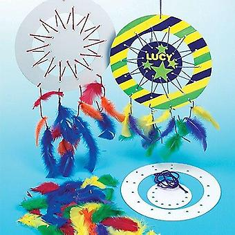Baker ross design a dreamcatcher kits (pack of 6) for kids to make and decorate
