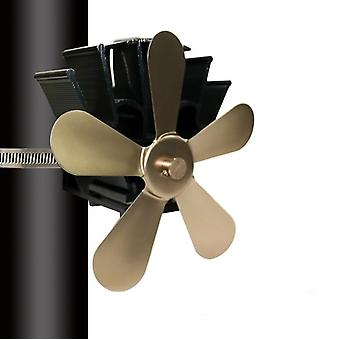 Multi Blade Fireplace Heat Powered Stove Fan - Log Wood Burner