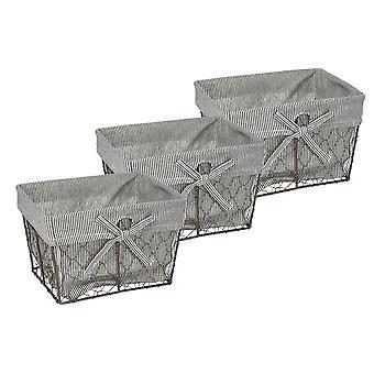 Dii Chicken Wire piccolo cesto (set di 3) Ticchettio
