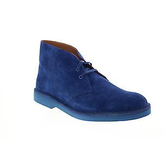 Clarks Desert Boot 2  Mens Blue Suede Desert Boots