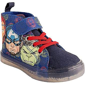 Avengers Assemble Kids Lighted Canvas Shoes