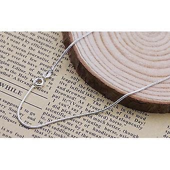 Colares de prata esterlina slim thin snake chains colar /cadeia para mulher