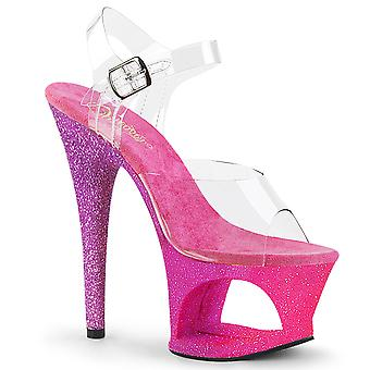 Pleaser Scarpe donna MOON-708OMBRE Clr/Pink-Lavender Ombre