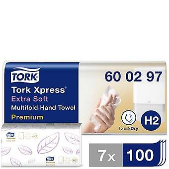 TORK 600297 Xpress Asciugamani multifold Premium Paper (L x W) 34 cm x 21,2 cm Bianco 21 x 100 fogli/confezione 2100 pc(s)