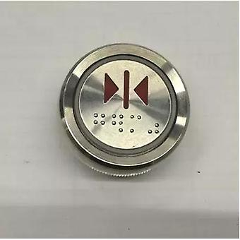 Ak-22 Elevator Button, Various Led With Braille Mtd330, Can Be Convex, Diamètre