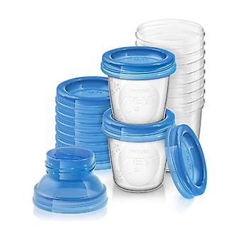 Philips Avent Breast Milk Containers SCF618 / 10 10 units