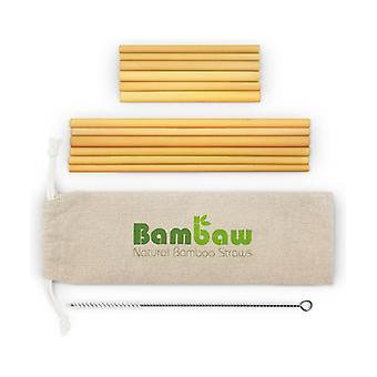 Bamboo straws 22 & 13 cm 12 units