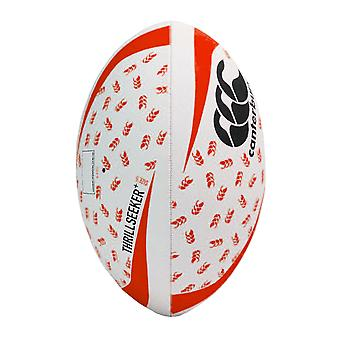 Canterbury Thrillseeker+ Rugby League Union Training Ball White/Black/Red