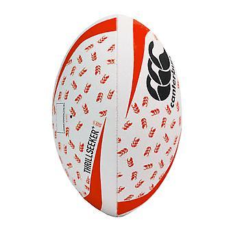 Canterbury Thrillseeker+ Rugby League Union Training Ball Blanc/Noir/Rouge