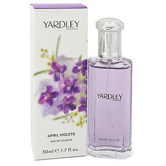 April Violets Eau De Toilette Spray By Yardley London 1.7 oz Eau De Toilette Spray