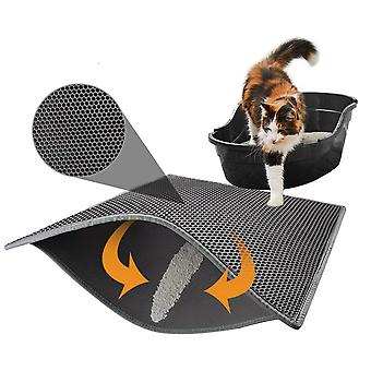 EVA Cat Litter Mat Waterproof Double Layer Cat Litter Trapping Pet Litter Box Mat Clean Pad Products For Cats Accessories