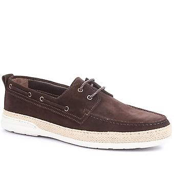 Jones Bootmaker Mens Pompey Leather Boat Shoes