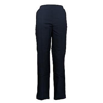 Hue Women's Pants Temp Tech Stretch Pull On Waistband Trouser Black 741792
