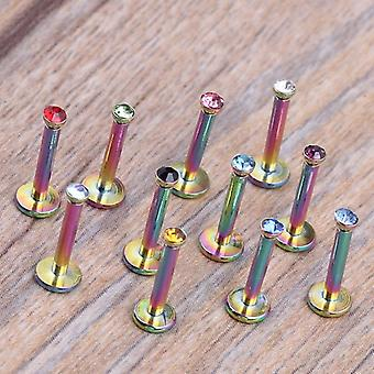 Para lengua pezón vientre ombligo septum anillo labret cautivo abalorios herramienta de joyería