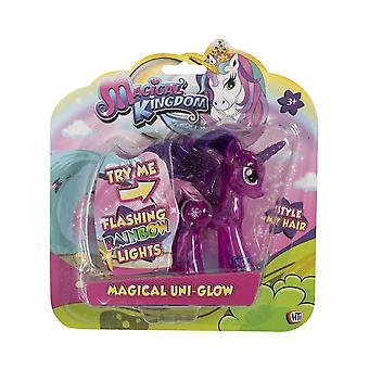 Unicorn Magical Uni-Glow Light Up Figure (Dark Pink)