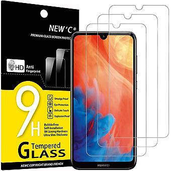 HaiFei 3 Stck, Schutzfolie Kompatibel mit Huawei Y7 2019, Huawei Y7 Pro 2019, Huawei Y7 Prime 2019