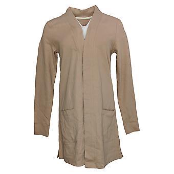 Isaac Mizrahi En direct! Pull femme Pull Open Front Knit Cardigan Beige A374242