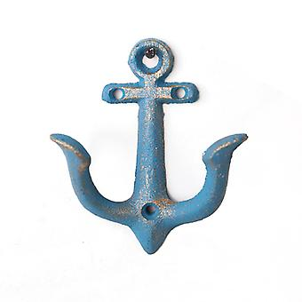 Iron Wall Hangers Anchor-shape Coarse Gravel Texture Hanging Hooks Bluse