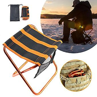 Portable Folding Mini Camping Chair, Aluminum Fishing Picnic Bbq Seat