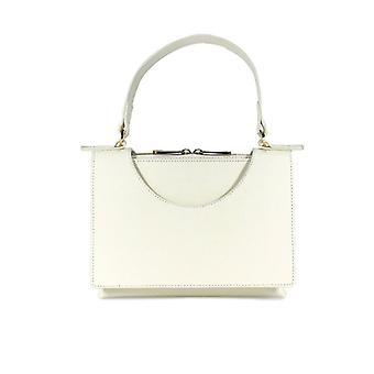 L'autre Chose Circle Cream White Handbag