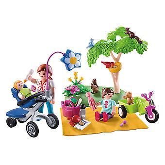 Playmobil الأسرة المرح الأسرة نزهة حمل القضية