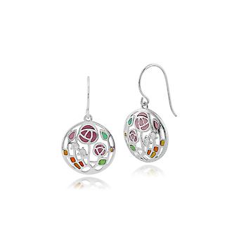 Rennie Mackintosh Round Topaz Rose Drop Earrings in 925 Sterling Silver 253E191101925