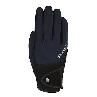 Roeckl Milano Adults Horse Riding Gloves - Navy Blue
