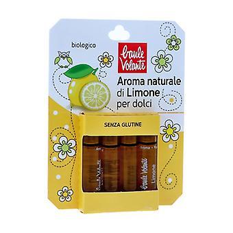 Natural lemon flavor for desserts 4 units of 2ml