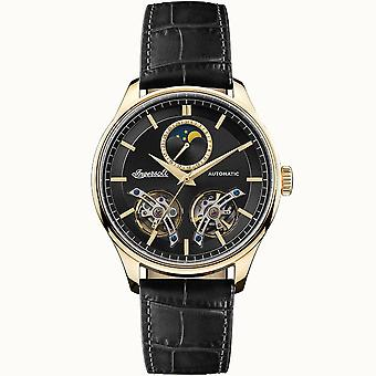 Ingersoll I07202 The Chord Automatic Gold & Black Leather Mens Watch